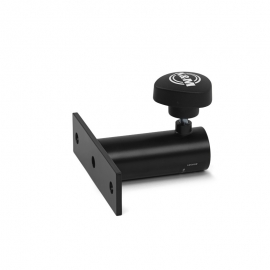 Tripod adapter for bracket / screw-on flange / black