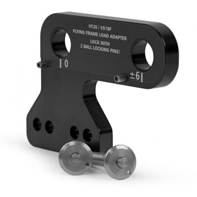 Load adapter for flying frame VT20 / high-strength steel / black