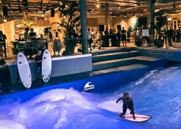 Indoor sound system in a surf club