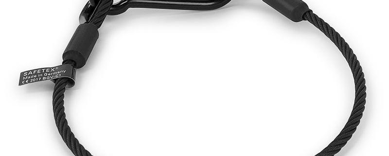Safety / Anschlagseil DIN 3060 D= 6 mm / Länge 60 cm / schwarz