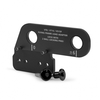 Lastadapter für Flugrahmen VT8 & VT16 / Edelstahl / schwarz